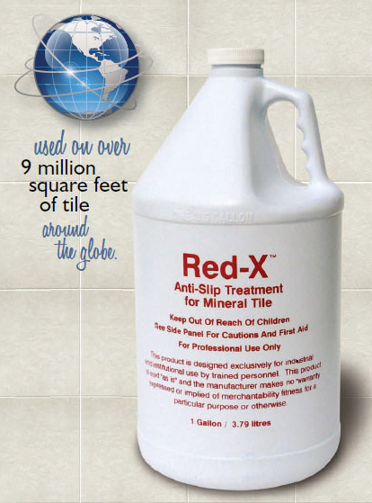 Red-X Anti-Slip Floor Treatment Product